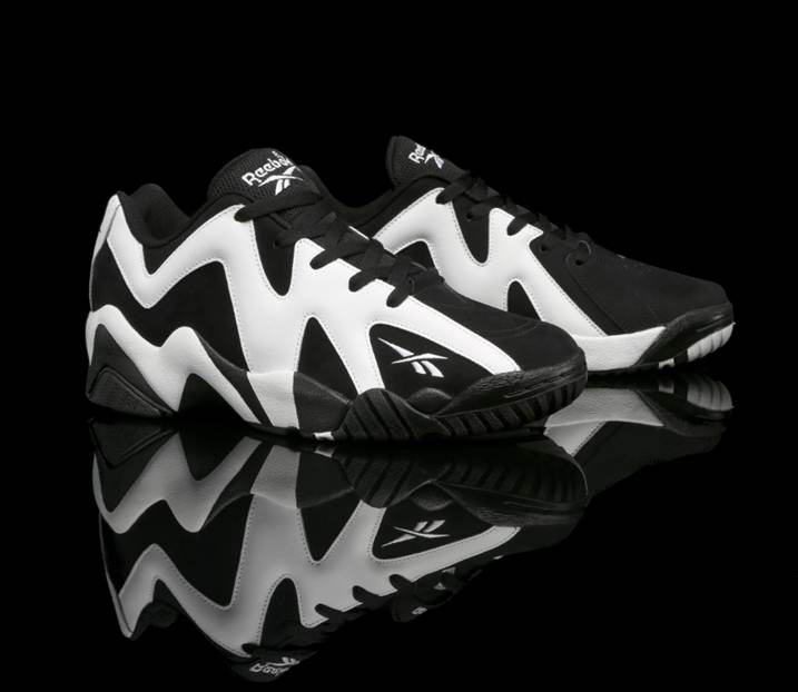 Reebok Kamikaze II Low Black White  0484173e0