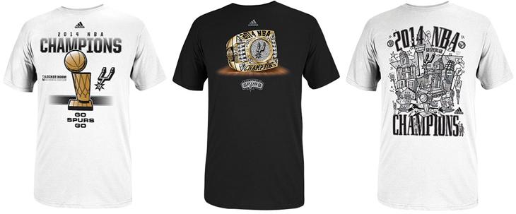 95b77dc27f1 San Antonio Spurs adidas 2014 NBA Finals Champions Shirts ...