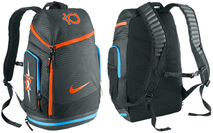 new style 87b11 66a33 Nike KD Max Air Backpack (Anthracite Black Team Orange)