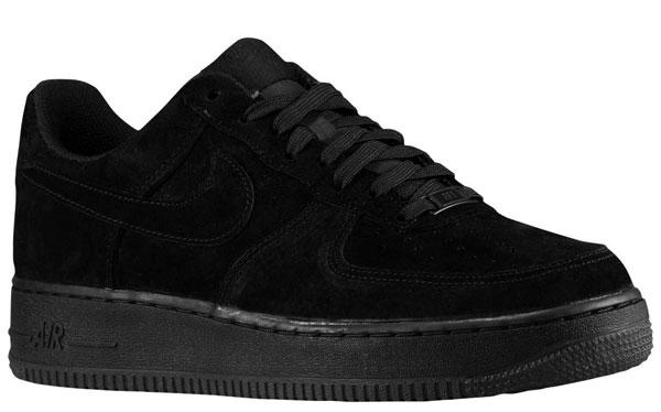 cool Nike Air Force 1 Bas Tout En Daim Noir jeu acheter obtenir uhC86