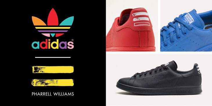 a407973f3 adidas Originals Pharrell Williams Solid Pack Stan Smith Track ...