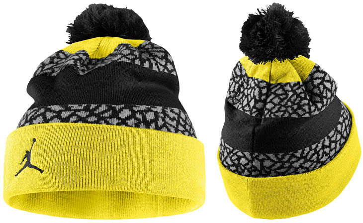 Jordan Jumpman Striped Beanie Vibrant Yellow Black  c5fe4623e7d
