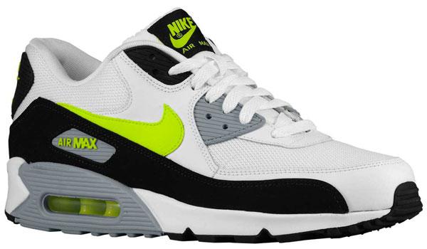 Nike Air Max 90 White Black Volt Wolf Grey |