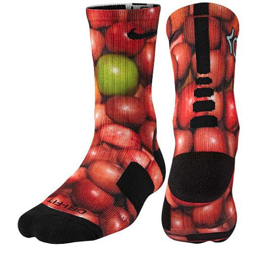 "huge discount b8db7 db771 Nike KD 7 ""Bad Apple"" Socks"