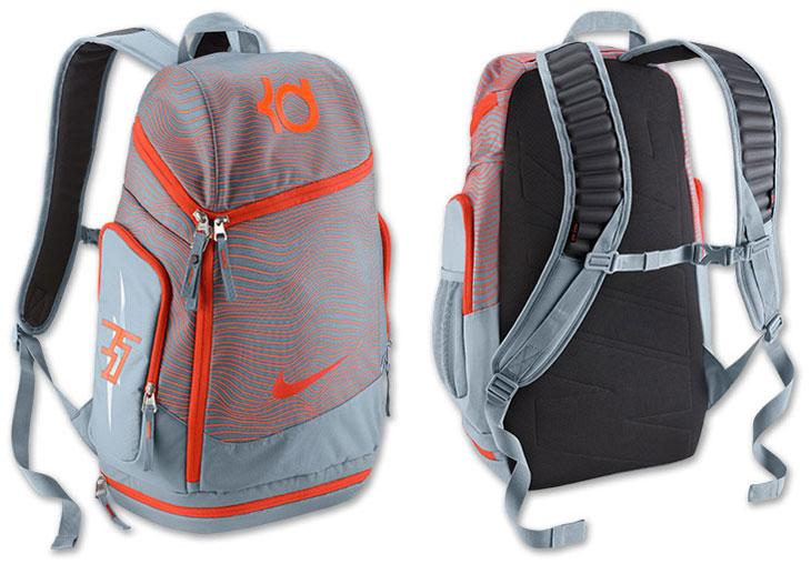ddc719378550 Nike KD Max Air Backpack Magnet Grey Team Orange