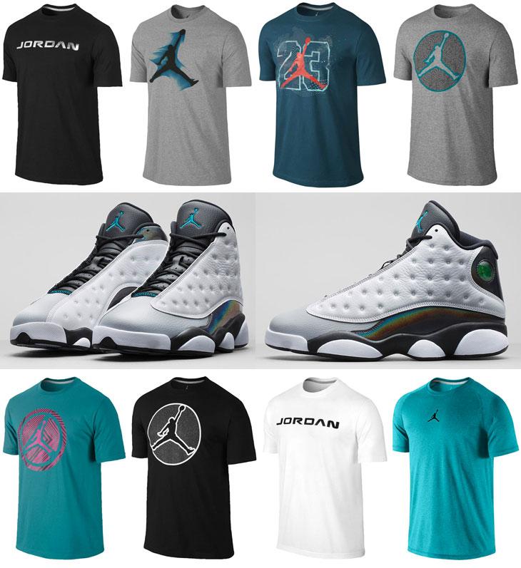 7c0a33ed452 Air Jordan 13 Wolf Grey Hologram Barons Shirts | SportFits.com