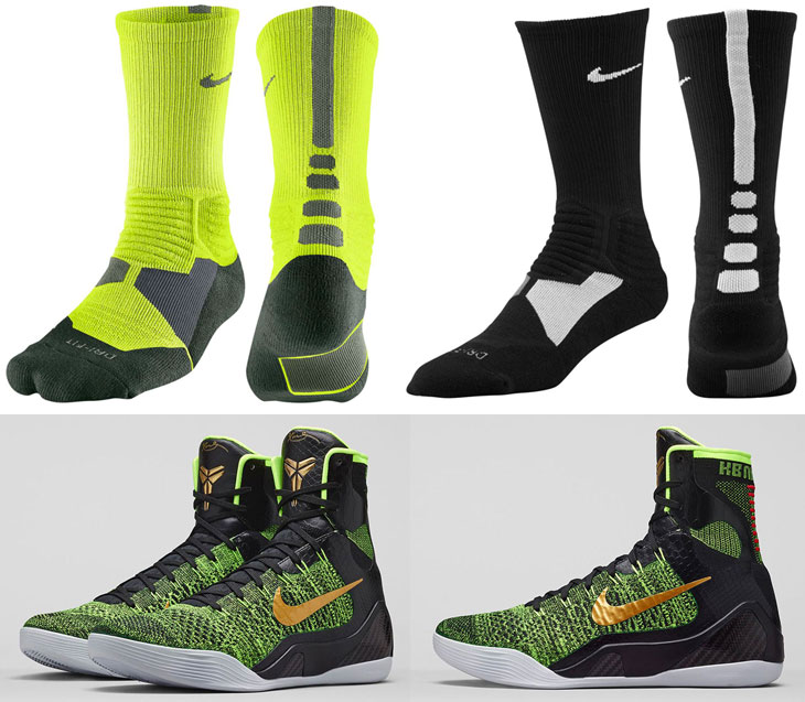 Nike Kobe 9 Elite Restored Victory Socks Sportfits Com