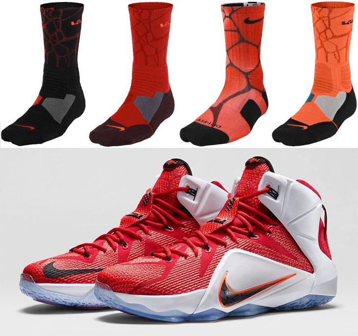nike lebron socks to sport with the nike lebron 12 heart