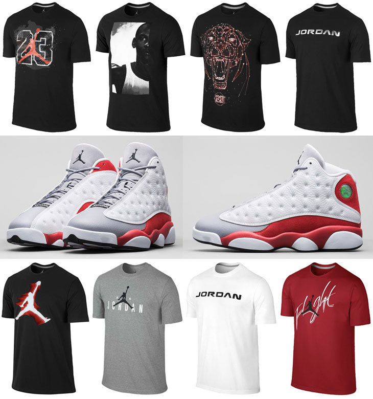 air jordan 13 grey toe shirts to wear