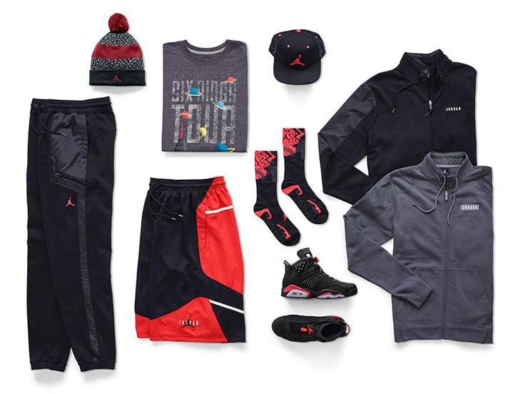 97fbdfae9fe9e6 Air Jordan 6 Retro Black Infrared Clothing Shirts Shorts