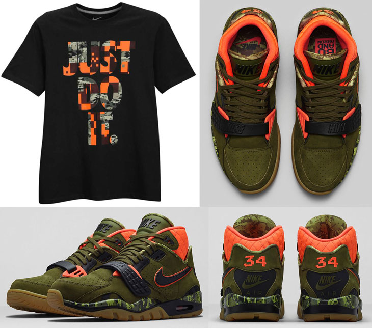 """buy popular 29619 20ef2 Nike T-Shirt to Hook with the Nike Air Trainer SC II """"Faded Olive"""""""
