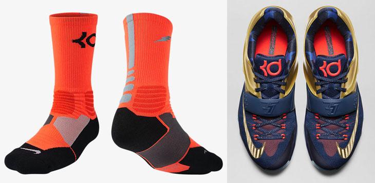 free shipping a144e 6c18d nike-kd-7-premium-metallic-gold-socks