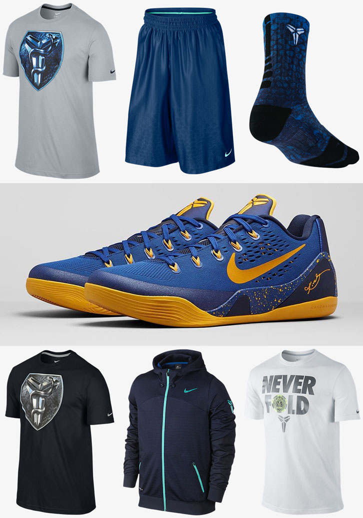 d4dfe030bedd Nike Kobe 9 Gym Blue Clothing Shirts Shorts Socks