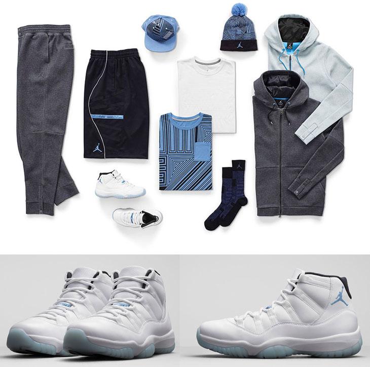 Air Jordan 11 Legend Blue Clothing and