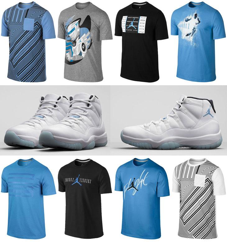 Air Jordan 11 Légende Vêtements Bleu