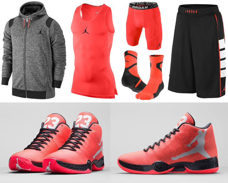 09db8cdecd4c93 Air Jordan XX9 Infrared 23 Clothing Shorts Socks