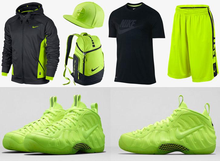 2b0c61fc Nike Air Foamposite Pro Volt Clothing Shirts Shorts Hat | SportFits.com