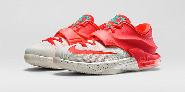 31f8ef24c2a9 Nike KD 7 Christmas Egg Nog Kids Shoe