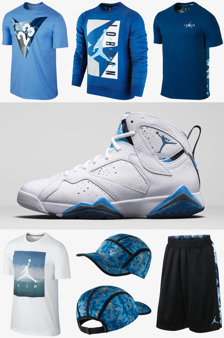 timeless design 29702 21b3c air-jordan-7-french-blue-clothing