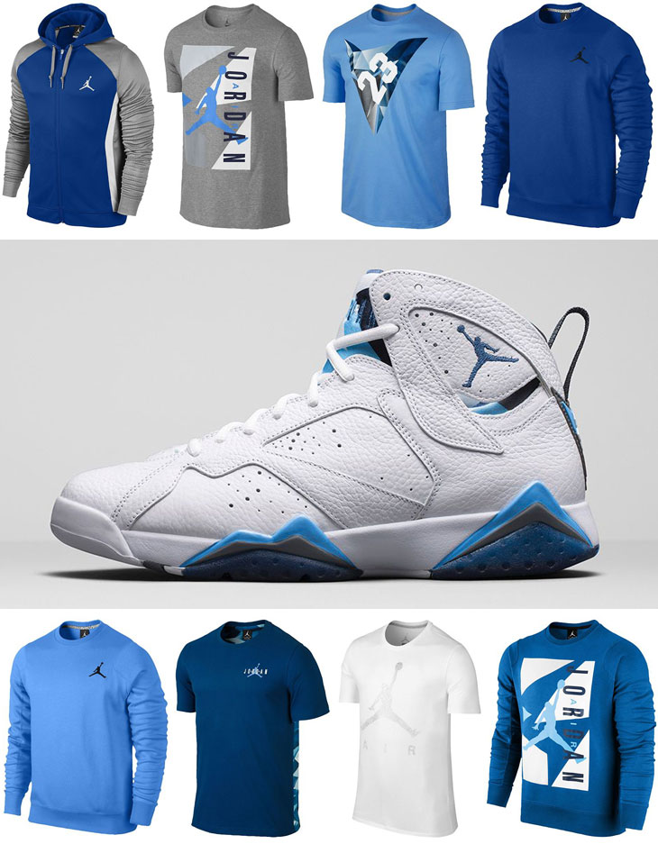 air jordan 7 retro french blue t-shirt
