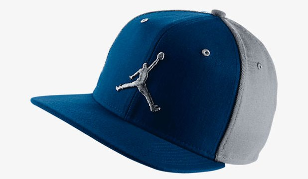 "87935a82452a69 Jordan Jumpman Snapback Hat ""French Blue Wolf Grey"""