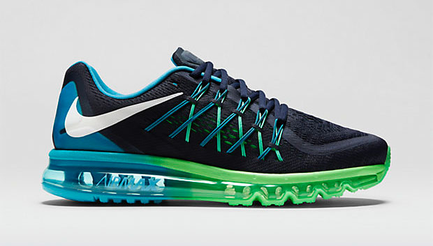 NIKE AIR MAX 2015 Dark Obsidian/Blue Lagoon/Poison Green/White