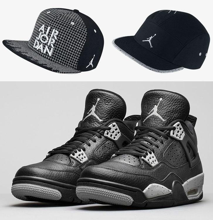 Air Jordan 4 Tech Grey Oreo Hats  81e2bc18b5b