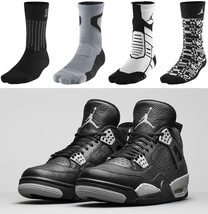 sneakers for cheap 4d4de 584cb air-jordan-4-tech-grey-oreo-socks