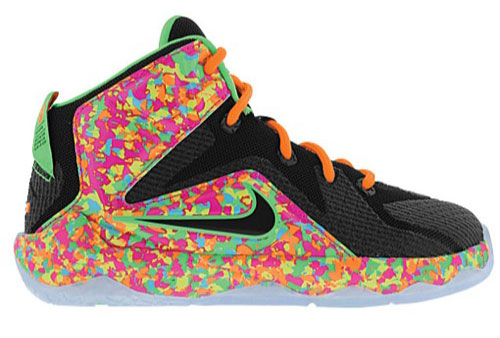 designer fashion 4f4d6 8113e nike-lebron-12-fruity-pebbles-preschool