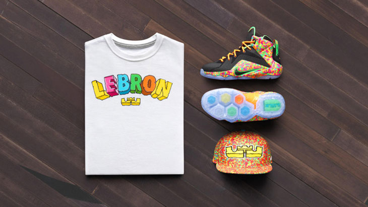 new concept b4a42 2b561 nike-lebron-12-fruity-pebbles-shirt-and-hat