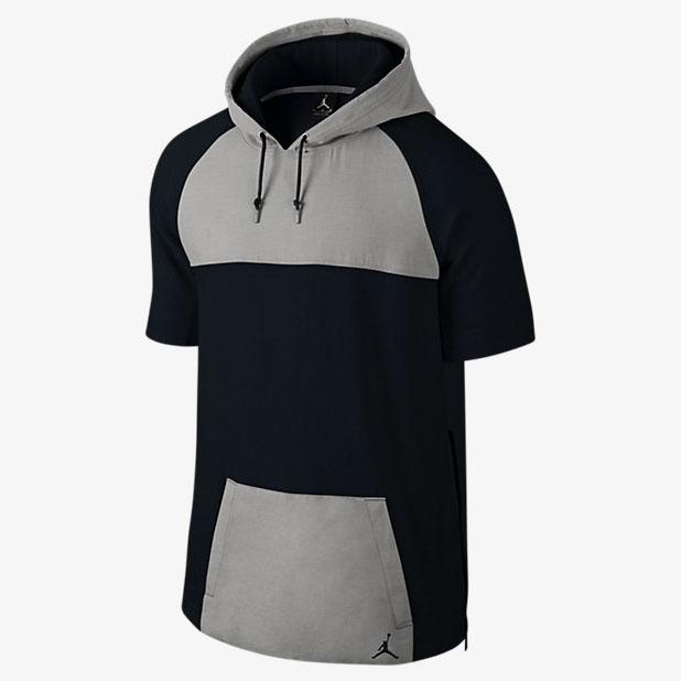 1935b154f36c jordan-short-sleeve-pullover-hoodie-black-grey-1