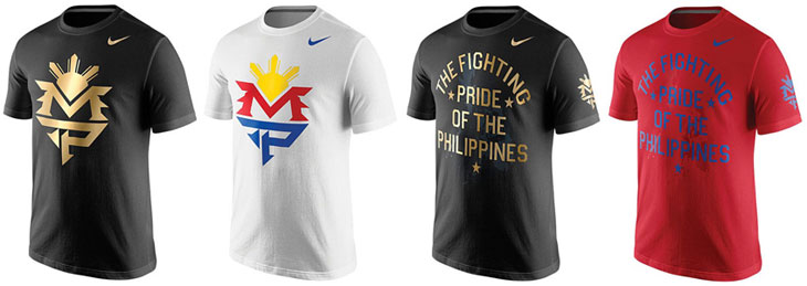 efc9ea456f35 New Nike Manny Pacquiao Shirts for Mayweather vs Pacquiao ...