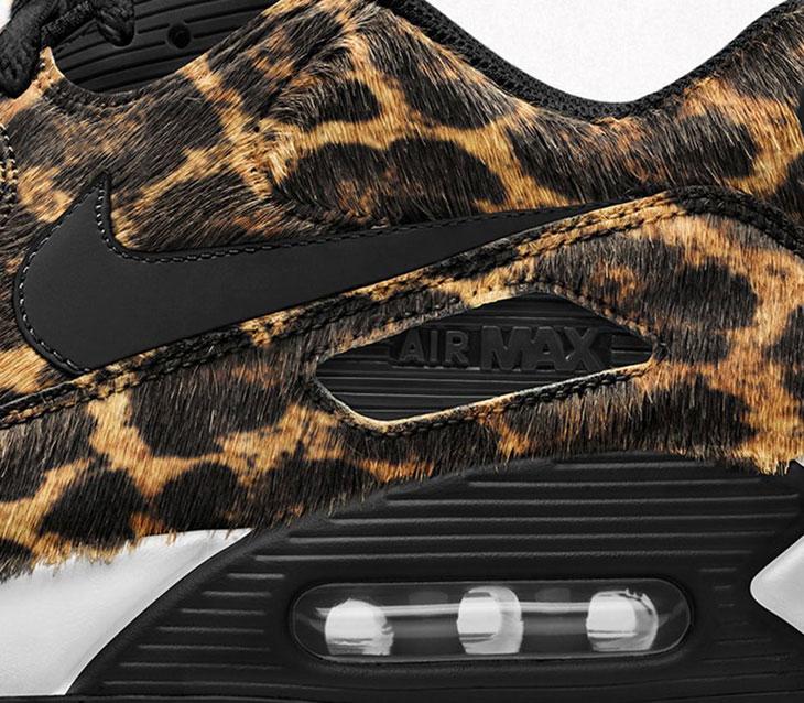 Leopard Print Covers The Nike Air Max 90 •