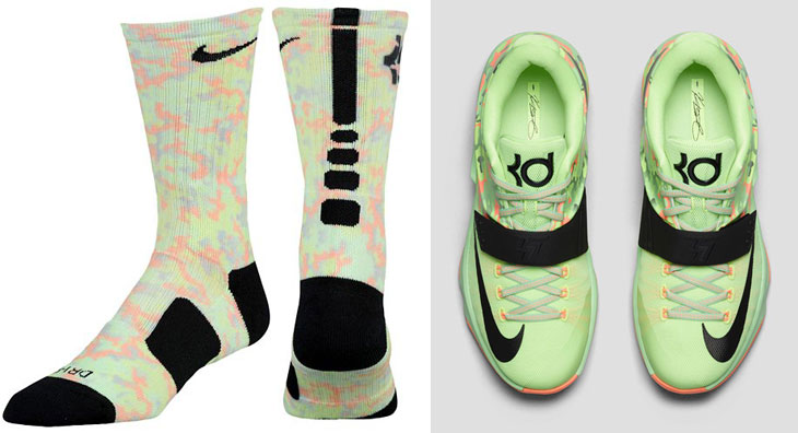 timeless design 5dfbb 64dba ... nike-kd-7-easter-socks ...