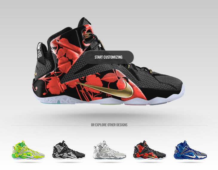 buy popular 4631f b3d64 Nike LeBron 12 Easter Graphic Now Available on NIKEiD ...