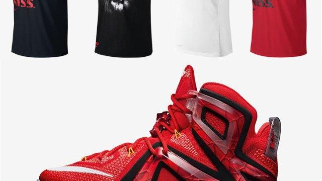 "dd14f4cfb9d4 Nike LeBron Shirts to Wear with the Nike LeBron 12 Elite ""Team"""