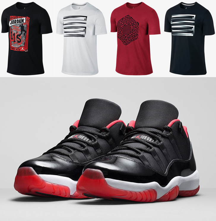 9e25c7d4e579 Air Jordan 11 Low Bred Shirts