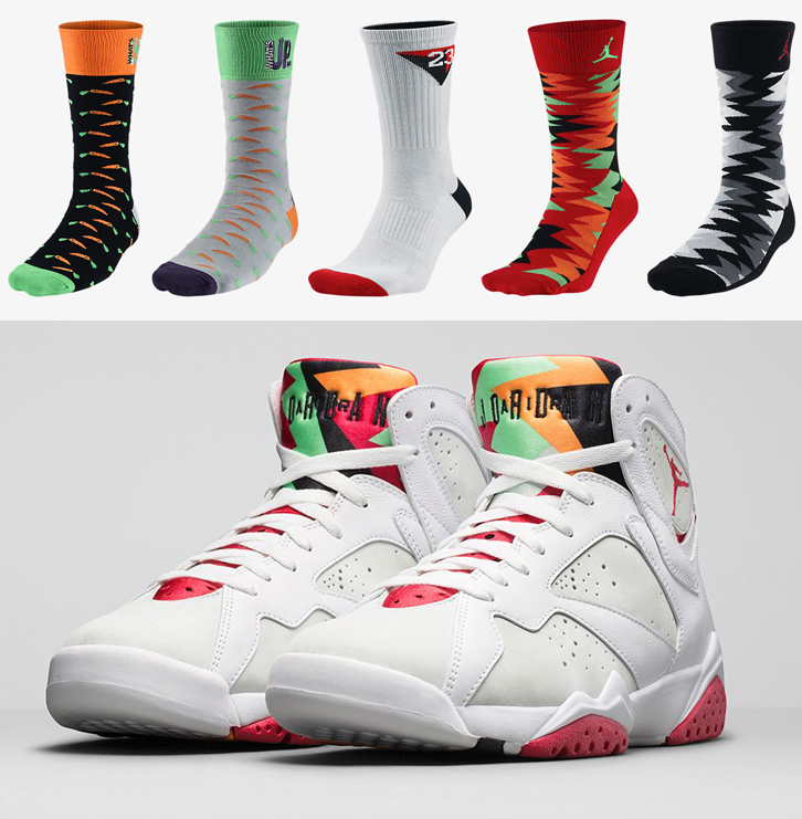 e3b7672f4546eb Air Jordan 7 Hare Socks