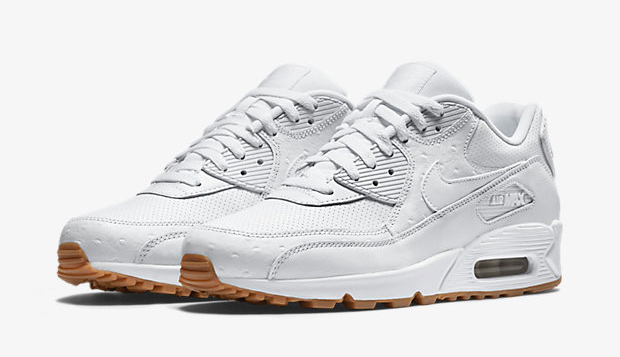 air max 90 all white leather