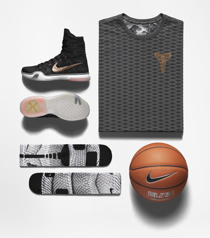be552aa2a590 Nike Kobe X Elite Rose Gold Shirt and Socks