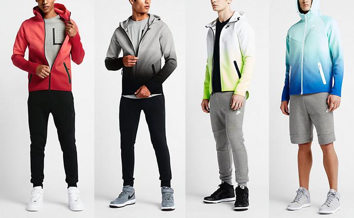 Nike Sportswear Tech Fleece Fade Windrunner Rio Rio Gym Red Black
