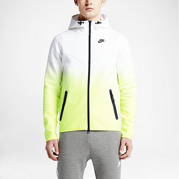 Nike Sportswear Tech Fleece Fade Windrunner Hoodie GrauSchwarz