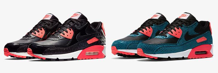 First Look: Nike Air Max 90 Black Croc Infrared