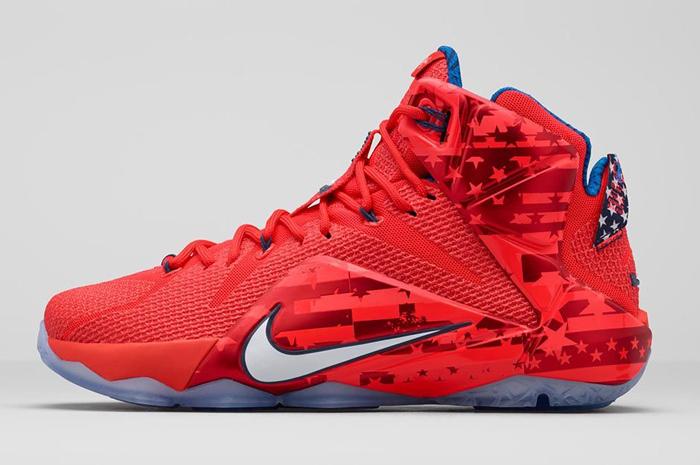 60e2bd3477a Nike LeBron 12 4th of July Clothing