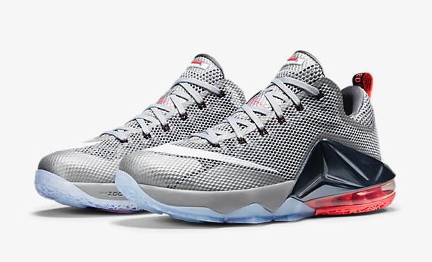 2fb6c6ce9f04 Nike LeBron 12 Low Wolf Grey