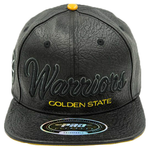 Pro Standard Golden State Warriors NBA Leather Snapback Hat ... 541fdc5b313
