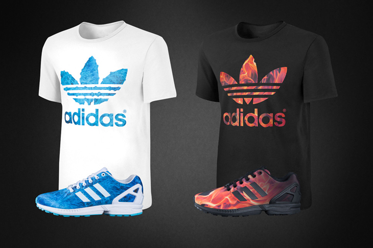 """0a1b46026 adidas ZX Flux """"Fire and Ice"""" Pack"""