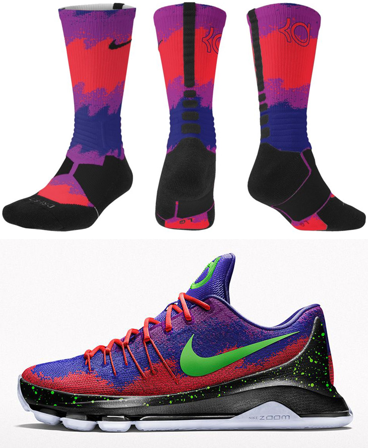 best website 41435 7d5d2 ... discount code for nike kd 8 spray paint nerf socks 44d7f 8d5ad