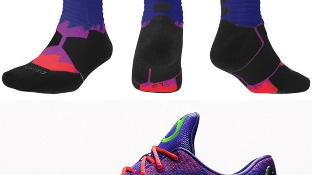 buy online 23365 78dd2 Nike KD Spray Paint Hyper Elite Socks Available to Personalize on NIKEiD