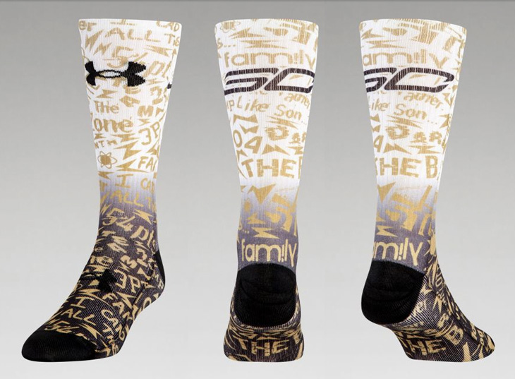 4969b116139d Under Armour Stephen Curry SC30 Graphic Crew Socks
